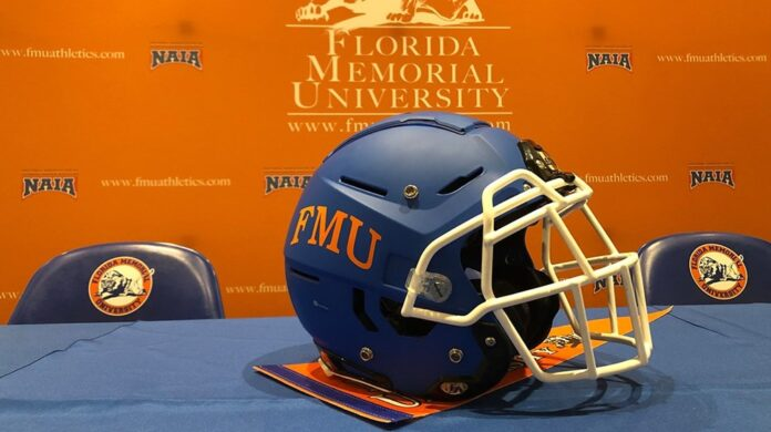 Florida Memorial football helmet